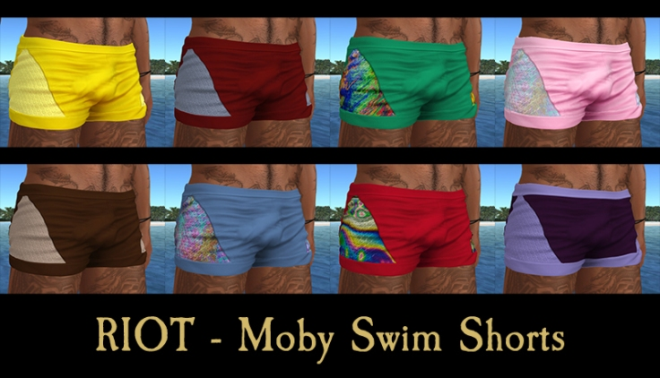 moby swim trunks collage